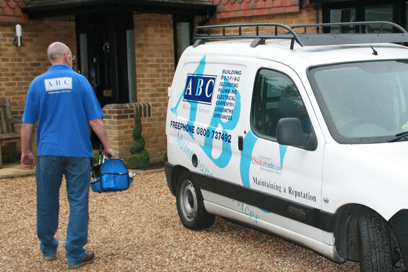 ABC maintenance service vans